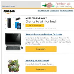 [Amazon] Save on Lenovo All-In-One Desktops + Try Amazon Giveaway for a chance to win cool stuff