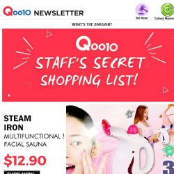 [Qoo10] ALL IN 1 Steam Iron ▷▷Face Steaming★Humidification★Etc.▷▷To Buy Is To Earn!!! S$12.9