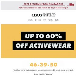 [ASOS] Up to 60% off activewear – time ya!