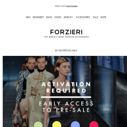 [Forzieri] Members-Only Pre-Sale | Be the first to know