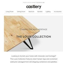 [Castlery] Character and Heritage - The Louis Collection