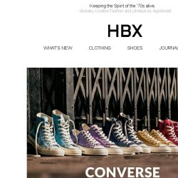 [HBX] All-new Colorways of Converse Chuck Taylor 1970 All Star now available