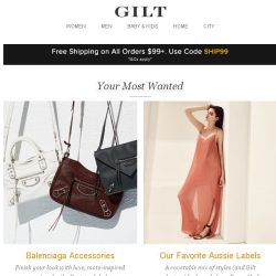 [Gilt] Balenciaga Accessories, Our Favorite Aussie Labels, Back on Gilt: Alex & Ani and More Start Today at Noon ET