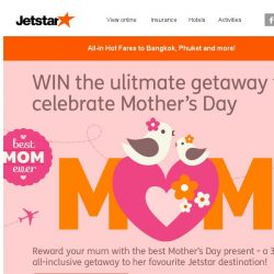 [Jetstar] ✈ Have you booked your May or June getaways? Deals for Bangkok, Phuket and more!