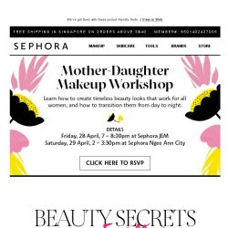[Sephora] Want tips from the ultimate beauty guru?