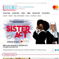 [SISTIC] Win a pair of tickets to catch SISTER ACT this May!