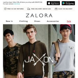 [Zalora] All-new JAXON styles to conquer the weekend