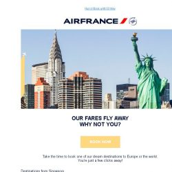 [AIRFRANCE] Last days to enjoy our Flying Offers Worldwide!