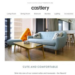[Castlery] Labour Day Weekend Inspiration - The Naomi Loveseat and Sofa