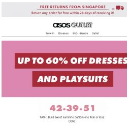 [ASOS] Up to 60% off dresses and jumpsuits