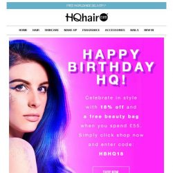 [HQhair] 18% off + Free beauty bag - Last Chance