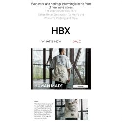 [HBX] New in from HUMAN MADE now online, alongside a range of essential sneakers