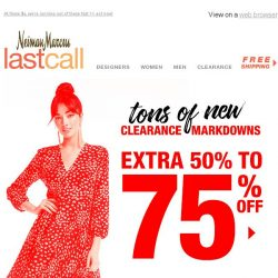 [Last Call] ⏰ Hurry, the clock's ticking! Extra 50%–75% off CLEARANCE