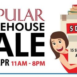 POPULAR Bookstore: The POPULAR Warehouse Sale starts today with up to 90% OFF on selected Stationery, Books and CDs!