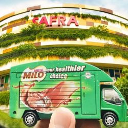 MILO Singapore: MILO Van will be at SAFRA Punggol this Sunday!