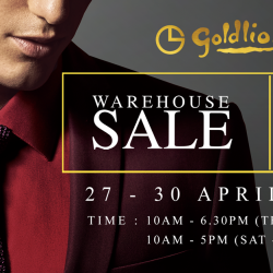 Goldlion: Warehouse Sale Up to 90% OFF + Additional 10% OFF on 3 Items & More!