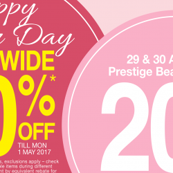 OG Singapore: Enjoy 20% OFF Storewide Including Prestige Brand Cosmetics this Labour Day Weekend!