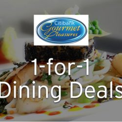 Citi Cards: Exclusive 1-for-1 Dining Deals