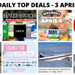 BQ's Daily Top Deals: NEW Taxi Codes, 1-for-1 Starbucks Drinks, AirAsia Mega Sale, Ben & Jerry's FREE Cone Day, Citi Cards 1-for-1 Dining Offers & More!