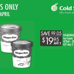 Cold Storage: 2 Tubs of Häagen-Dazs Ice Cream for $19.95 Only!