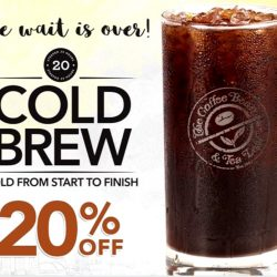 The Coffee Bean & Tea Leaf: 20% OFF Cold Brew Coffee