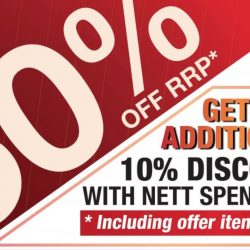 Sportslink: Enjoy 50% OFF + Additional 10% OFF with $120 Nett Spend!