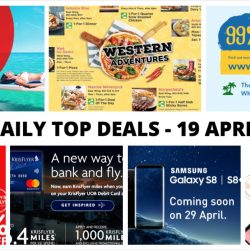 BQ's Daily Top Deals: ZUJI 99% Sale, 1-for-1 Dining Deals at Suntec City, Watsons' 20% OFF Storewide, Latest Samsung S8/S8+ Telco Contract Prices & More!