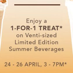 Starbucks: Enjoy 1-for-1 Treat on Venti-sized Limited Edition Summer Beverages