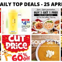 "BQ's Daily Top Deals: Guardian 1 Day Sale, Toys ""R"" Us Mayday Warehouse Sale, Chun Cui He offer, Pepper Lunch e-Coupons & More!"