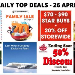 BQ's Daily Top Deals: New Balance Pre Renovation Sale, Metro Travel Fair, Goldlion Warehouse Sale, Le Creuset Family Sale, Charcoal Thai 50% OFF Ala Carte Dishes & More!