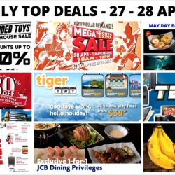 BQ's Daily Top Deals: Sheng Tai Toys Warehouse Sale, 1-for-1 & 50% OFF e-Coupons for NTUC Members, World of Sports Mega Expo Sports Sale, EuropAce Warehouse Sale & More!