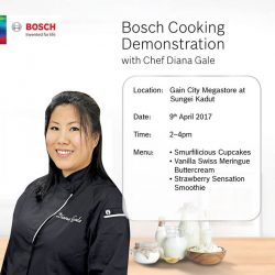 [Gain City] JOIN US at the Gain City Megastore @ Sungei Kadut this Sunday, 9th April between 2-4pm as Chef Diana Gale (