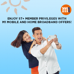 [M1] Exclusively for ST+ members, present your ST+ E-card to enjoy The Straits Times Loyalty Programme promotional offers.