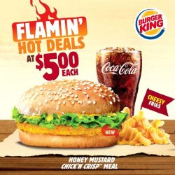 [Burger King Singapore] Celebrate Friday with a Flamin' Hot Deal at $5 only!