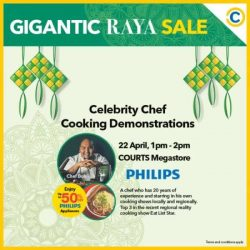 [Courts] Get your tummies rumbling with Chef Bob at COURTS Megastore and Chef Pauline Chan at COURTS Causeway Point as they