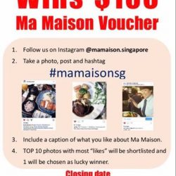 """[TONKATSU BY MA MAISON] Take part in our """"Best photo"""" competition and stand a chance to win $100 Ma Maison vouchers!"""