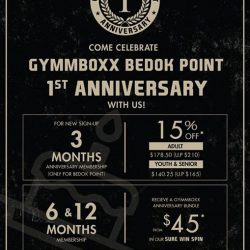 [GYMM BOXX Silver] Celebrate Bedok Point's 1st Anniversary with us!