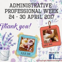 [Blossoms Cellar] Administrative Professional Week: Show your appreciation to the secretaries and admin administrators who have worked hard all year long to