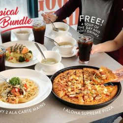 [Pizza Hut Singapore] Complete your merrymaking equation with a Tropical Bundle For 4!