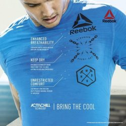 [Fitness First] When your training heats up, Reebok ACTIVCHILL works hard to keep your body cool so you can push past your