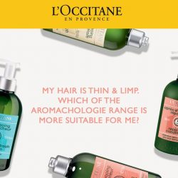 [L'Occitane] If your hair feels or looks fragile, thin & limp, it could most likely be due to an oily scalp.