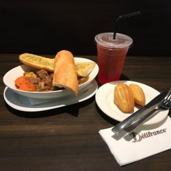[Delifrance Singapore] Tender beef chunks sautéed with onion, potato and celery, cooked to perfection in yummy beef gravy and served hot
