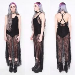 [Iron Fist Clothing] Our Midnight Hour Slip Dress is on sale now for only $19!