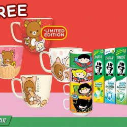 [Pink Beauty] From now till end April buy Darlie Double Action toothpaste set* and get a free Rilakuma mug or Marvel Stackable