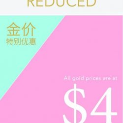 [TIANPO JEWELLERY] Gold price promotion for 916 and 999 gold jewellery from now till 2 May.