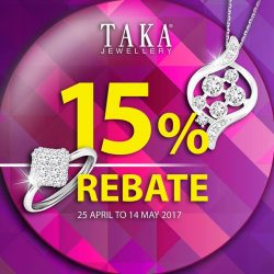 [Taka Jewellery Treasures] Starting our 15% rebate for selected jewellery.