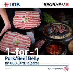 [SEORAE] Enjoy 1-for-1 pork/beef belly for UOB cardholders only at Seorae.