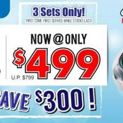 [Best Denki] Samsung Robotic Vacuum: VR10J5050UD Now @ Only $499 (Usual: $799) 3 Sets Only!