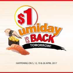 [UMISUSHI Singapore] Calling all umi fans, $1 umiday is BACK TOMORROW!