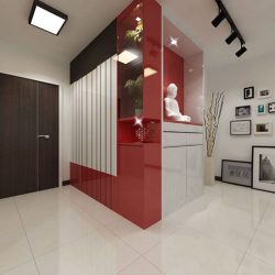 [Elegance Concept] Project Location: BLOCK 213A SUMANG WALK Project designer: Ken Goh (Sales Designer)The pops of reds throughout the home create